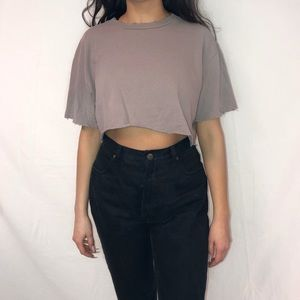 Top shop cropped shirt